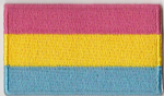 Pansexual Pride Flag Embroidered Flag Patch, style 04